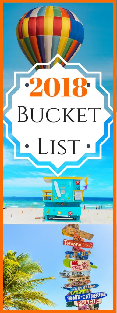 The point of a Bucket List is to remain inspired and have some form of a goal to look forward to as you go throughout the year. That's why I have created my 2018 Bucket List to not only hold myself accountable and fill my 2018 year with adventure and experiences but to also inspire you to find your own journey this year!