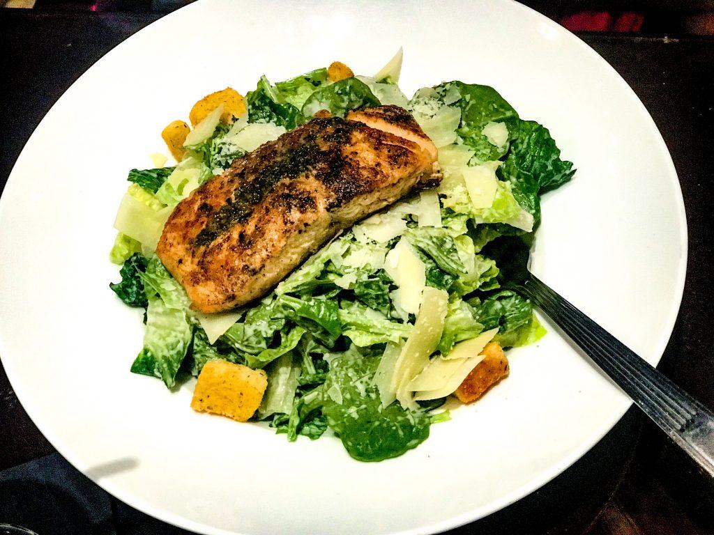 Washington Hilton Hotel McClellan's Sports Bar Salmon Ceasar Salad