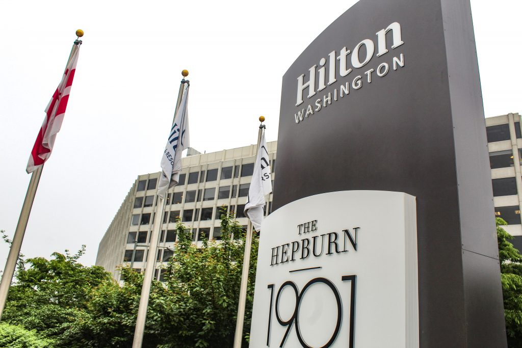 Washington Hilton Hotel sign