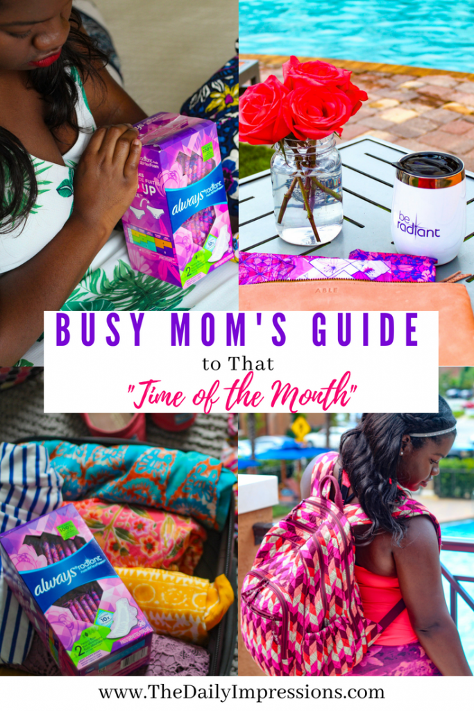 Busy mom's guide to that time of the month Pinterest pin