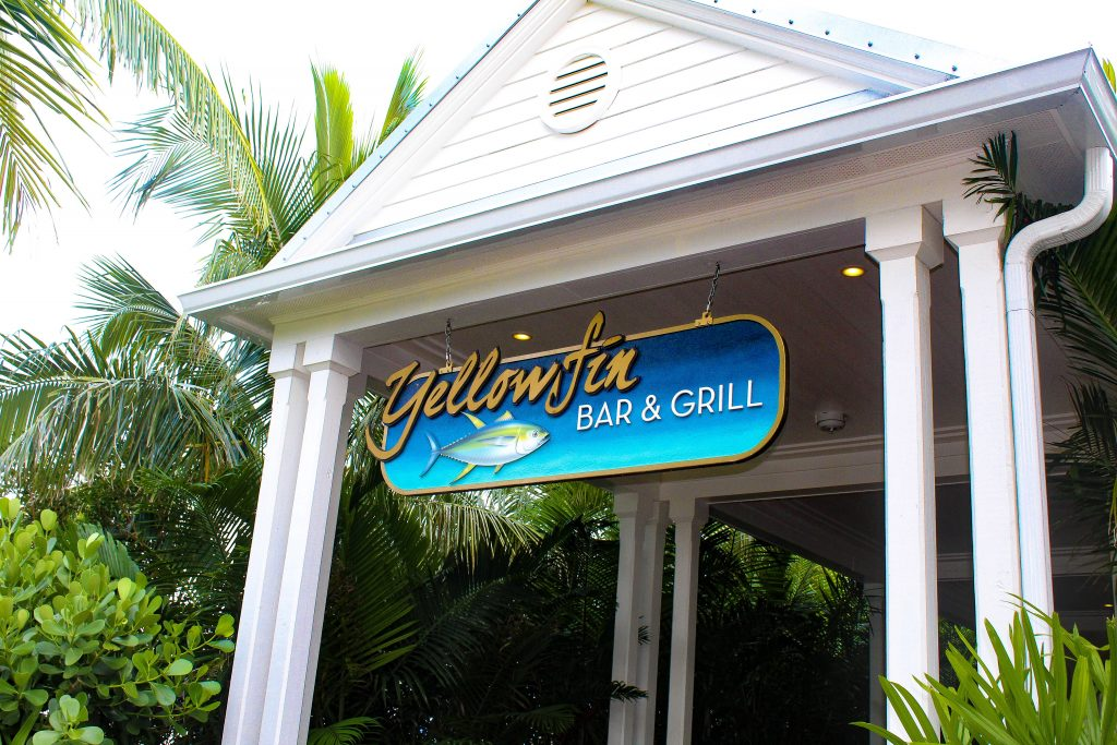 Yellowfin bar and grill onsite at Oceans Edge Resort and Marina Stock Island, Florida