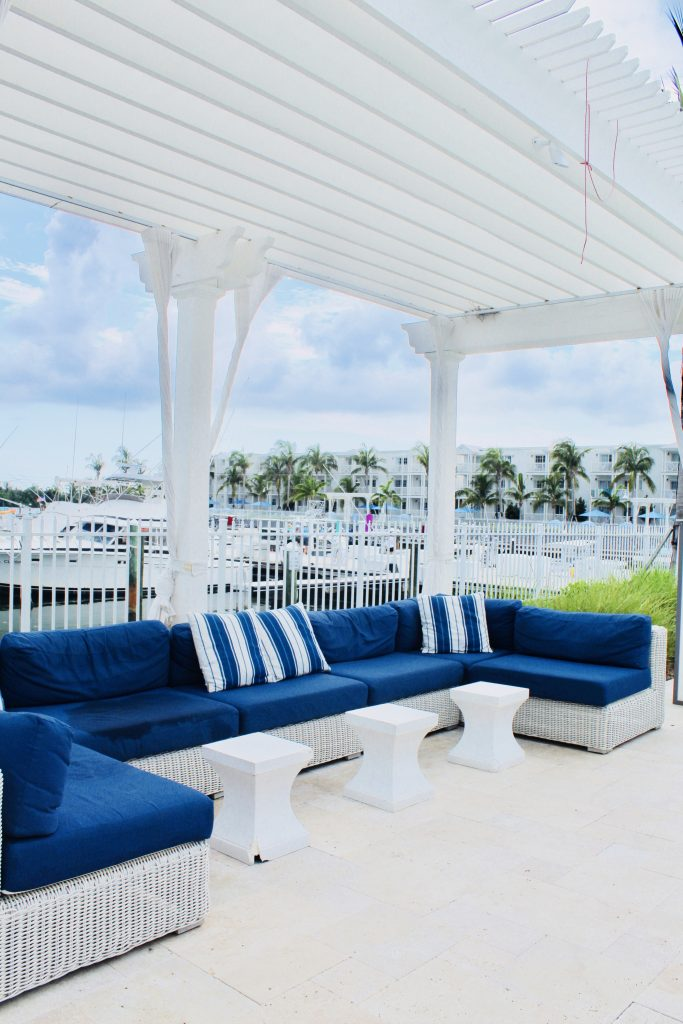 Poolside bar area at Oceans Edge Resort and Marina Stock Island, Florida
