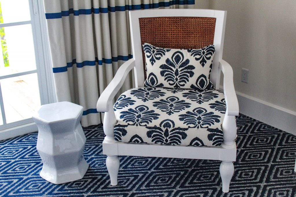 Upholstered Chairs in the sitting room at Oceans Edge Resort and Marina Stock Island, Florida