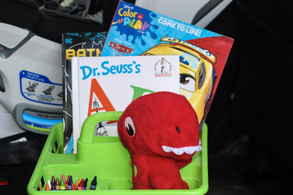 busy bin for kids in the back seat cross country pcs with kids