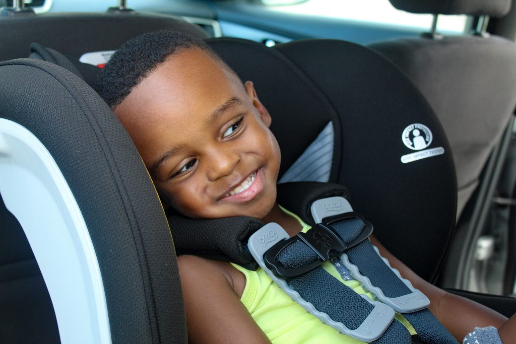 little boy in Britax marathon click tight car seat