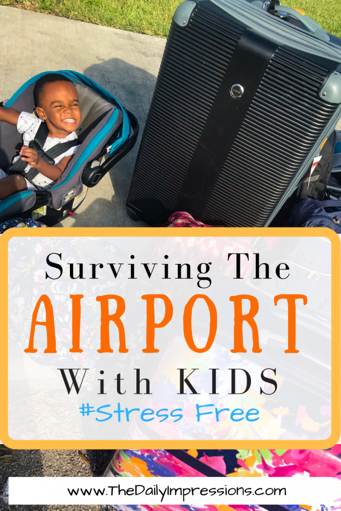 Tips for making your trip to the airport with children, stress free. These tips will help you ensure that your time in the airport is fun and efficient. #airtravel #travelwithkids #airports