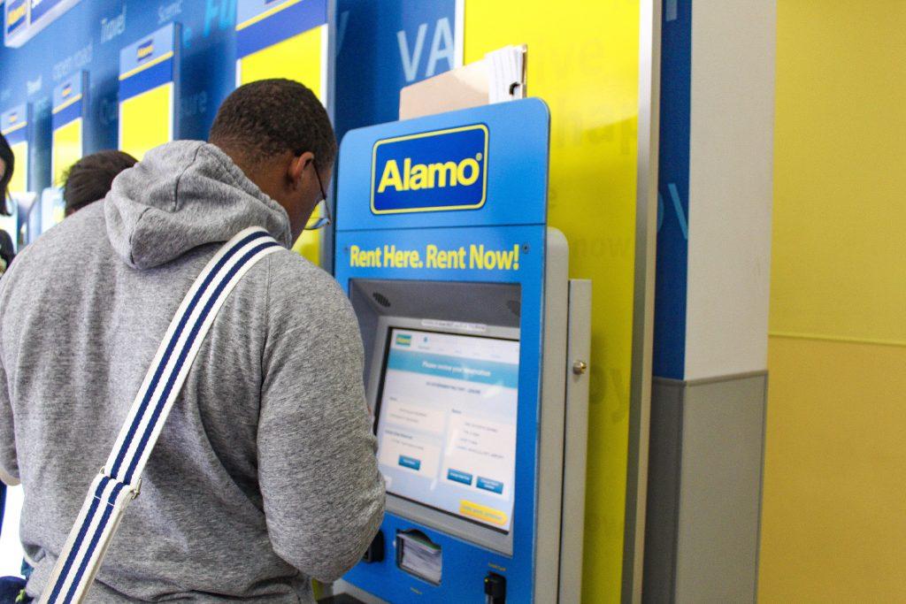 Alamo car rental kiosk