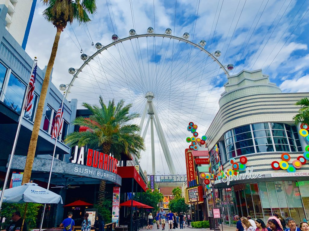 fly linq zip line picture things to do in Las Vegas with kids