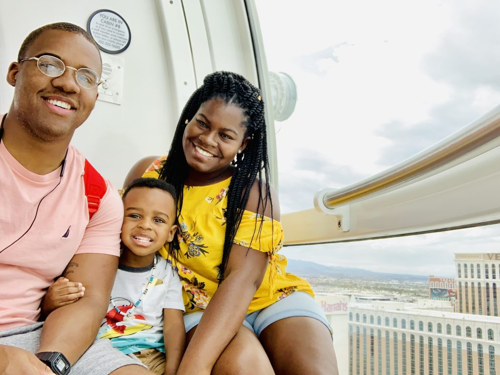 linq highroller family photo things to do in las vegas with kids