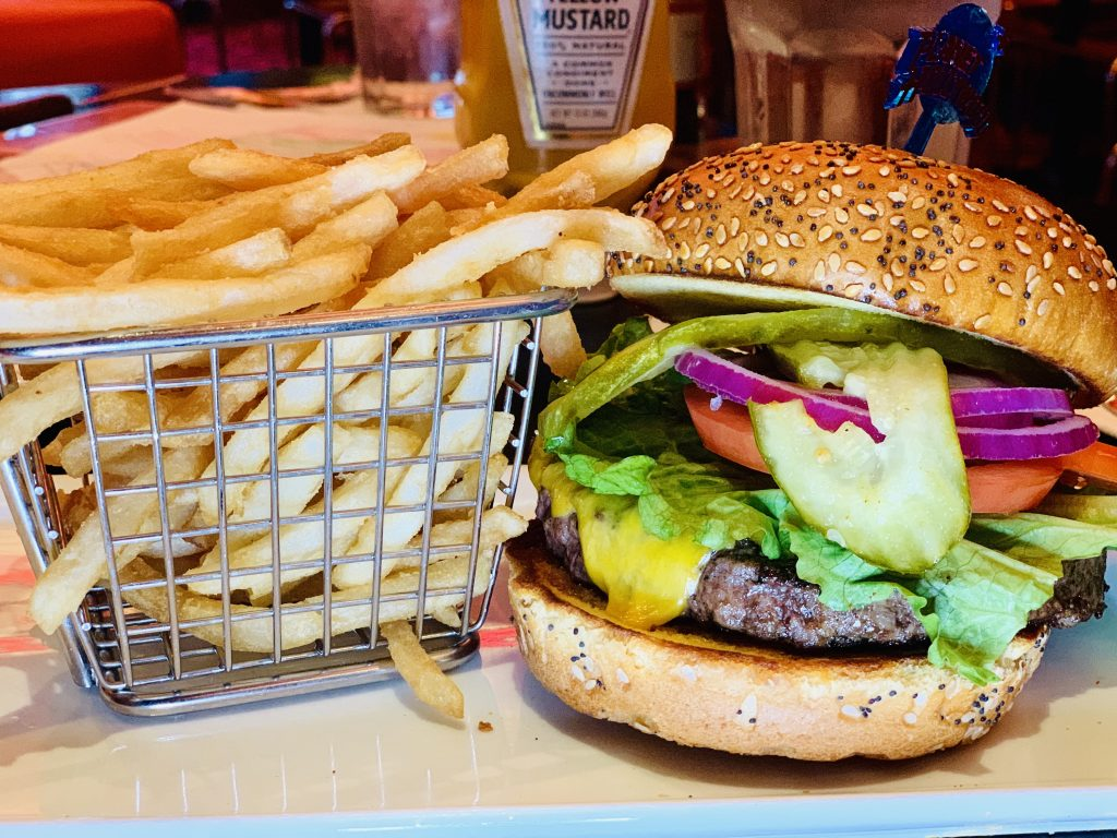 planet Hollywood burger must try places to eat in vegas