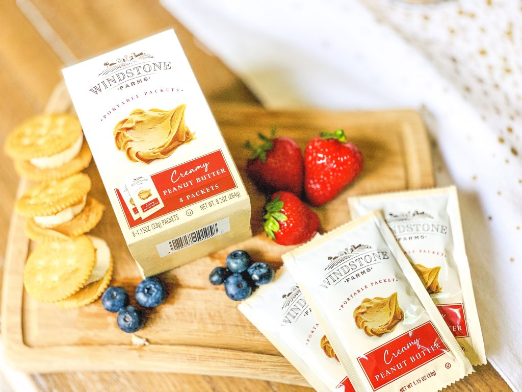 travel snack idea: Windstone Farms Creamy Peanut Butter Portable Packets from Walmart