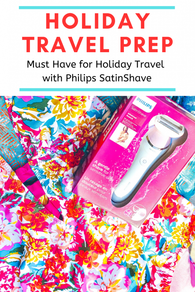 Holiday Travel Prep: My Must Have for Holiday Travel with Philips SatinShave