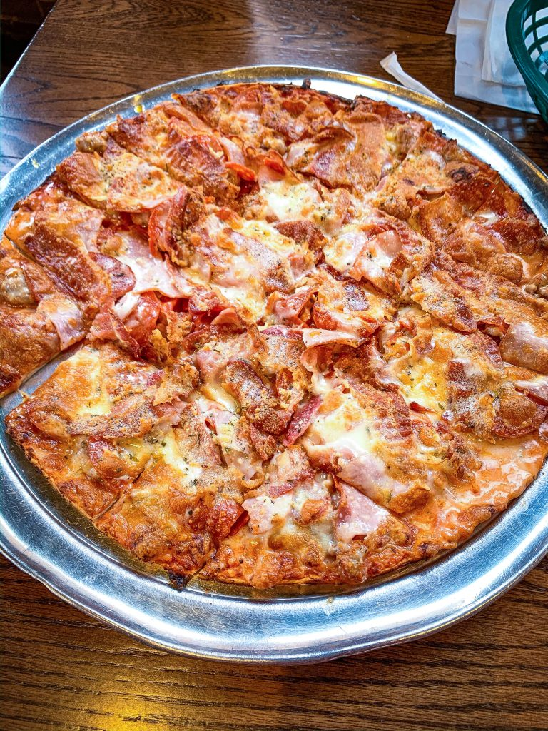 St. Louis Signature Dishes: St. Louis style pizza from imo's