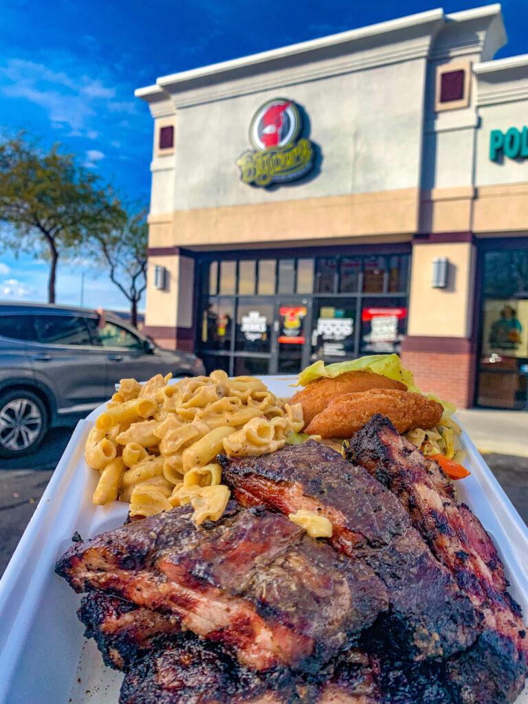 best Jamaican food in Las Vegas big jerk jerk ribs