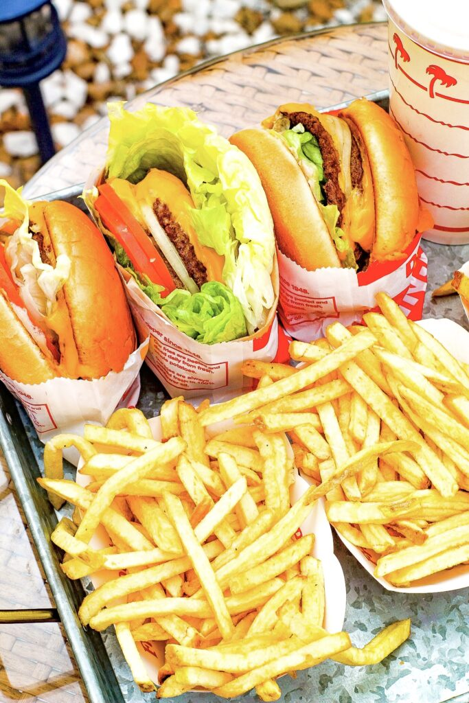 best food in Las Vegas in-n-out burger and fries