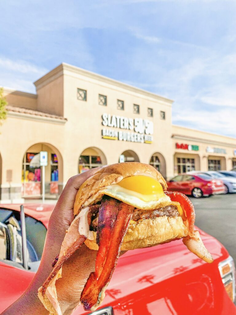 slaters 50/50 BBB Burger