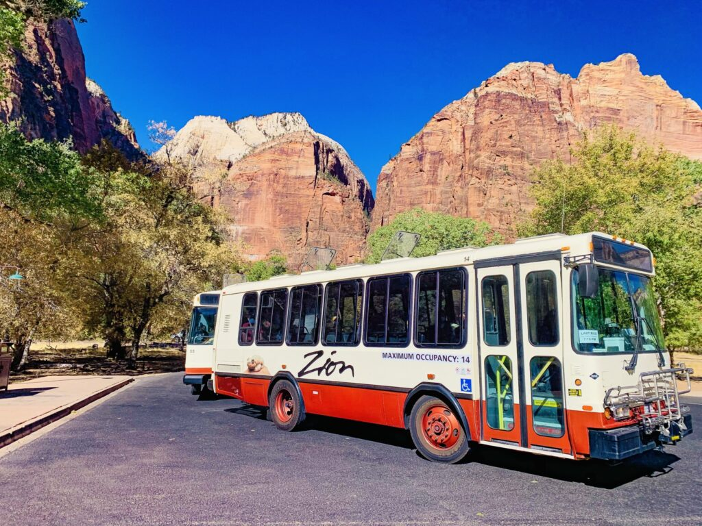 Zion national park free shuttle