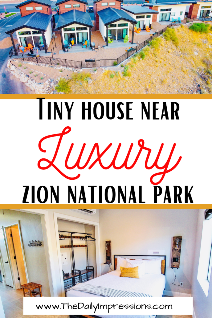 luxury tiny house on a cliff near Zion national park