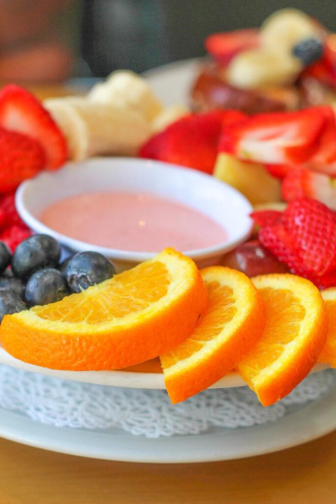 the cottage La Jolla fruit bowl