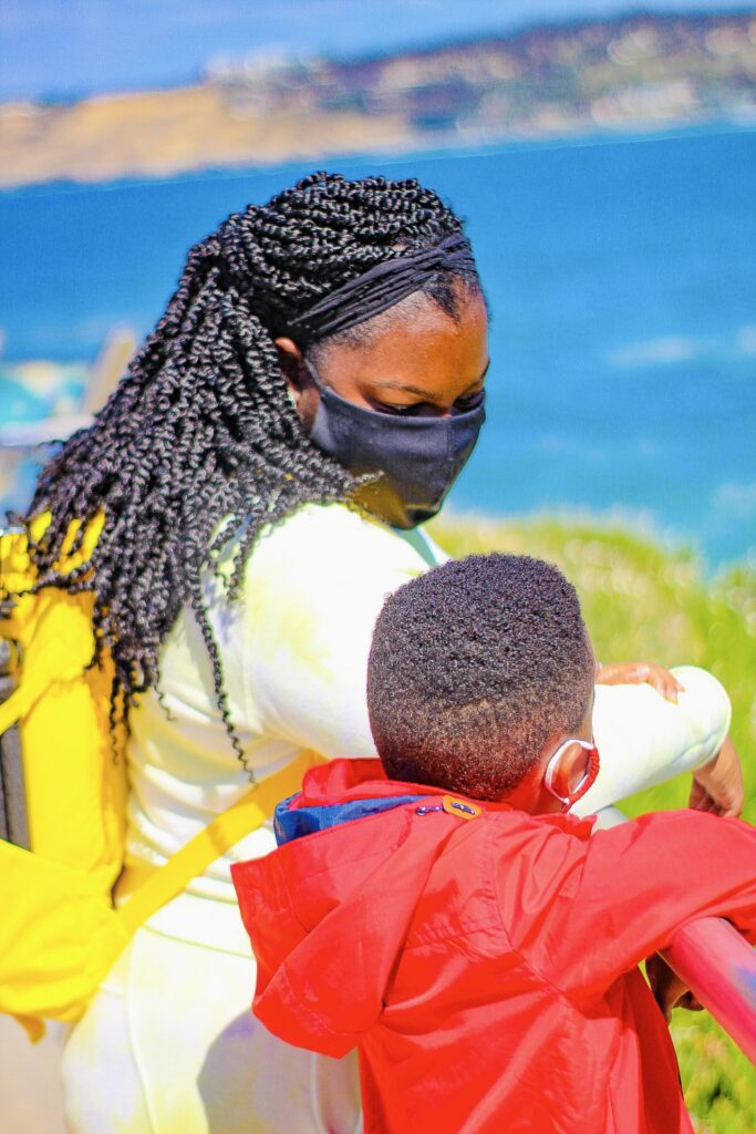 wearing masks during La Jolla and San Diego county covid 19 travel restrictions