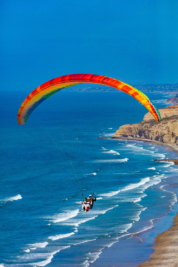 paragliding on Torrey pines  state beach