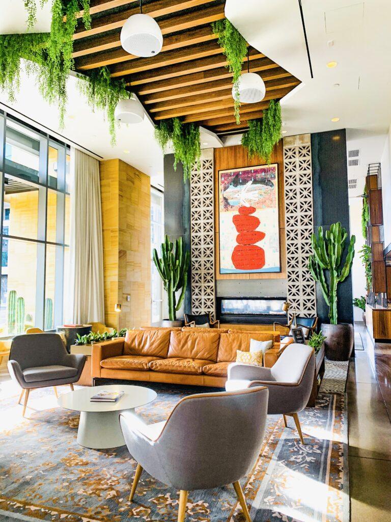 canopy tempe lobby design