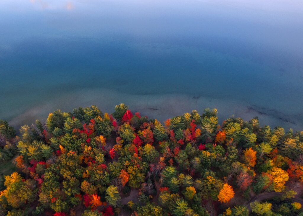 best places to see fall colors Michigan