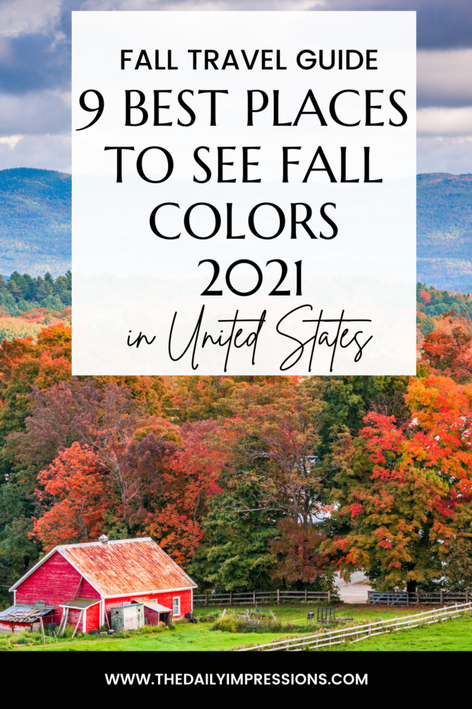 best places to see fall colors in the use 2021